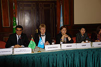 Deputy Foreign Minister Mr. Vepa Hajiev and UN Resident Coordinator Ms. Jacinta Barrins chaired the meeting
